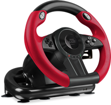 SPEEDLINK Trailblazer Vibration Effect Racing Wheel with Pedals for Microsoft Xbox One and PS4/PS3/PC, Black/Red