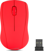SPEEDLINK Snappy Wireless 1000dpi Optical Three-Button Mouse with USB Receiver, Red (SL-630003-RD)