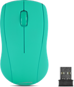 SPEEDLINK Snappy Wireless 1000dpi Optical Three-Button Mouse with USB Receiver, Turquoise (SL-630003-TE)