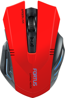 SPEEDLINK Fortus Wireless Optical 2400DPI Gaming Mouse, Red/Black