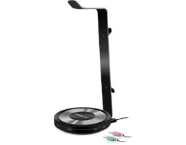 SPEEDLINK Estrado Multi-Functional Gaming Headset Stand with Integrated USB Hub & Sound Card, Black