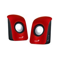 Genius SP-U115 USB Powered Stereo Speakers (Red)
