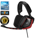 Corsair VOID Surround Hybrid Stereo Gaming Headset with Dolby 7.1 USB Adapter (Red)