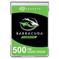 Seagate BarraCuda 500GB SATA III 2.5 Hard Drive - 5400RPM, 128MB
