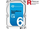 Seagate Surveillance (6TB) 3.5 inch Hard Drive (7200rpm) SATA 6Gb/s 128MB (Internal) +Rescue Model