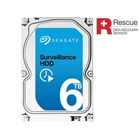 Seagate Surveillance (6TB) 3.5 inch Hard Drive (7200rpm) SATA 6Gb/s 128MB (Internal) +Rescue Model *Open Box*