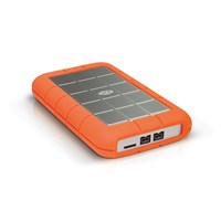 LaCie Rugged Triple 1TB Mobile External Hard Drive in Orange