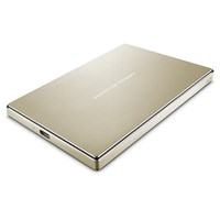 LaCie Porsche Design 2TB Mobile External Hard Drive in Gold