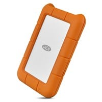 LaCie Rugged USB-C 2TB Mobile External Hard Drive in Orange