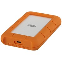 LaCie Rugged Secure 2TB Mobile External Hard Drive in Orange