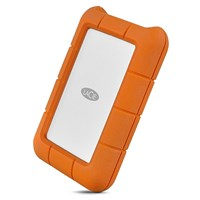 LaCie Rugged USB-C 4TB Desktop External Hard Drive in Orange