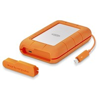 LaCie Rugged 5TB Desktop External Hard Drive in Orange - USB3.0