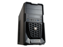 Cougar Spike Black Midi Tower Case