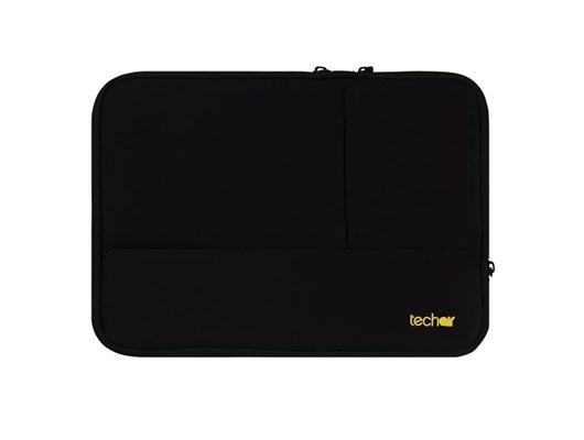 Techair Black and Grey Sleeve with Pockets for 13.3 inch Laptops