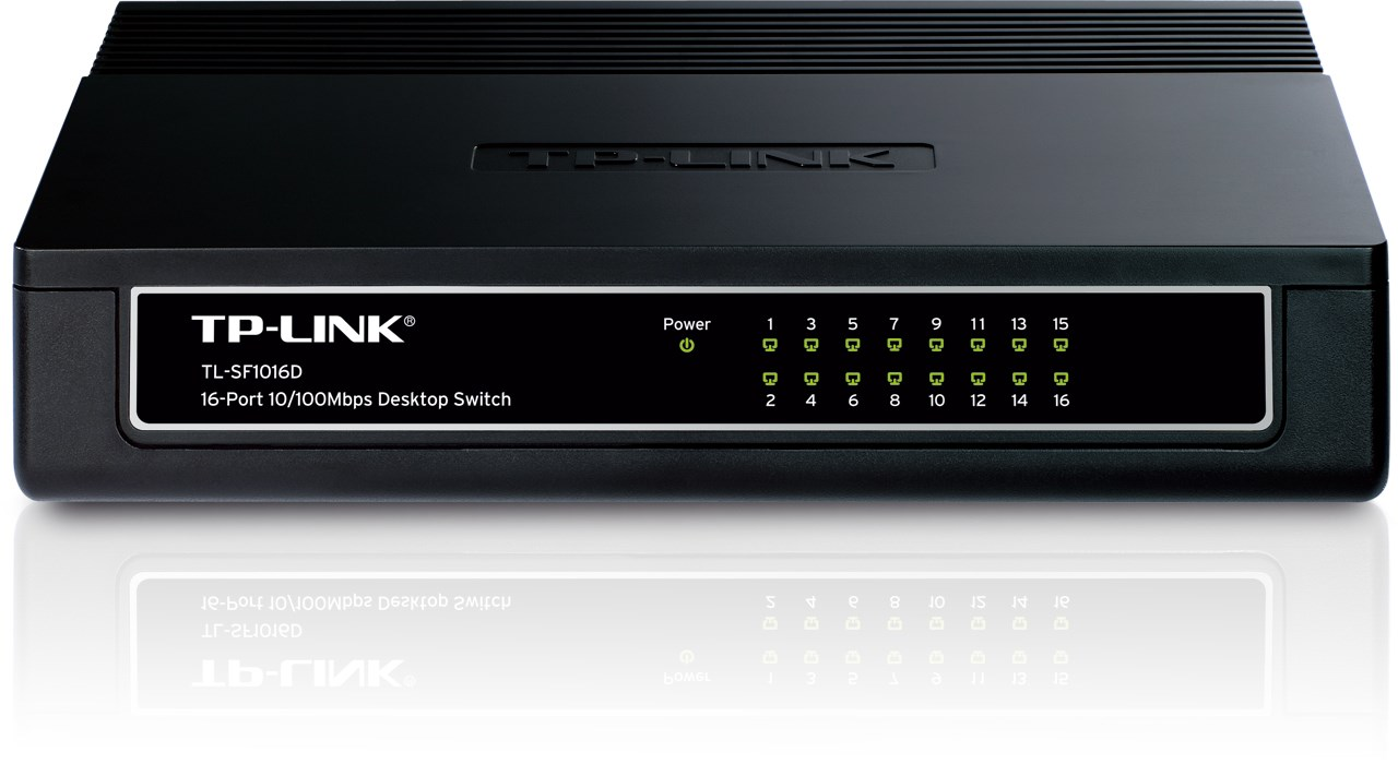 Switch tp-link tl-sf1016d (16 ports).