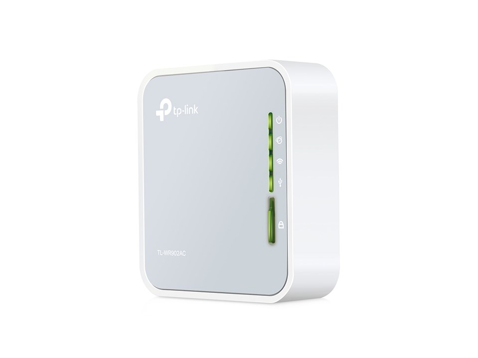 Tp Link Ac750 433mbps 5ghz 300mbps 2 4ghz Dual Band Wireless Travel Router Grey White V1