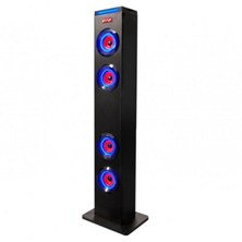 Sumvision PSYC TORRE XL Bluetooth Speaker 24W (4x6W) with Blue LEDs, FM Radio & Remote