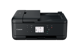 Canon PIXMA TR7550 (A4) Colour Inkjet Multifunction Printer (Print/Copy/Scan/Fax) 7.5cm LCD Touchscreen 15.0ipm (Mono) 10.0ipm (Colour) 37 sec (Photo) - Black *Open Box*