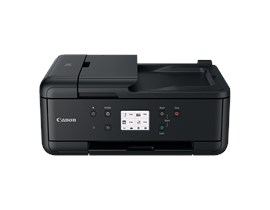 Canon PIXMA TR7550 (A4) Colour Inkjet Multifunction Printer (Print/Copy/Scan/Fax) 7.5cm LCD Touchscreen 15.0ipm (Mono) 10.0ipm (Colour) 37 sec (Photo) - Black
