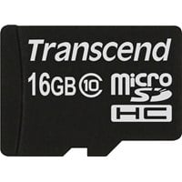Transcend 16GB microSDHC Flash Card without Adaptor (Class 10)