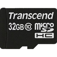 Transcend Premium (32GB) Class 10 microSDHC Flash Card without Adaptor