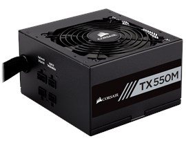 Corsair TX550M 550W Semi-Modular 80+ Gold PSU