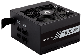 Corsair TX750M 750W Modular 80+ Gold PSU
