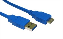 Cables Direct USB 3.0 Micro B Cable - 2Mtr