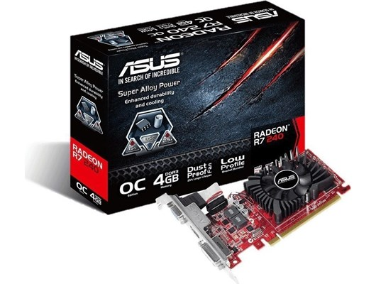 ASUS Radeon R7 240 4GB Graphics Card
