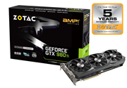 ZOTAC GeForce GTX 980 Ti AMP! (6GB) Graphics Card PCI-E (3 x DisplayPort) HDMI DVI (VGA Adaptor)