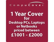 1 Year CompuCover Insurance for Desktop PCs, Laptops or Netbooks