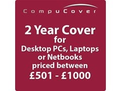 2 Year CompuCover Insurance for Desktop PCs, Laptops or Netbooks