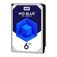 Western Digital Blue 6TB SATA III 3.5 Hard Drive - 5400RPM, 64MB