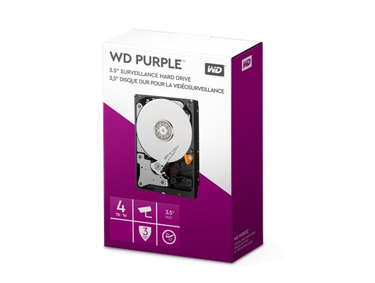 Western Digital Purple Retail 4TB SATA III 3.5""