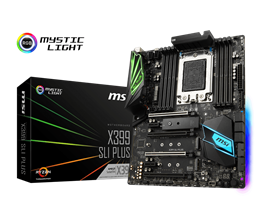 MSI X399 SLI PLUS AMD Socket TR4 Motherboard