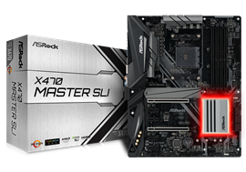 ASRock X470 Master SLI AMD Socket AM4 Motherboard