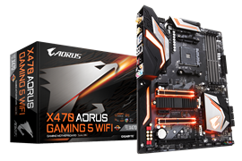 Gigabyte X470 AORUS Gaming 5 WiFi AMD Motherboard