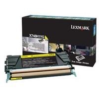 Lexmark (High Yield: 10,000 Pages) Yellow Toner Cartridge for X748 Printers