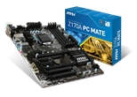 MSI Z170A PC MATE Motherboard 6th Gen Core i3/i5/i7/Pentium/Celeron Socket LGA1151 Z170 ATX RAID Gigabit LAN
