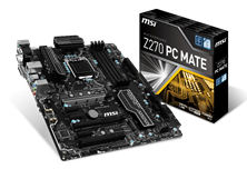 MSI Z270 PC MATE Motherboard 6th/7th Gen Core i3/i5/i/7/Pentium/Celeron Socket LGA1151 Z270 ATX Intel Gigabit LAN DDR4 *Open Box*