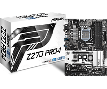 ASRock Z270 Pro4 Intel Socket 1151 Motherboard