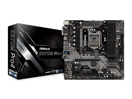 ASRock Z370M Pro4 Intel Socket 1151 mATX Motherboard *Open Box*