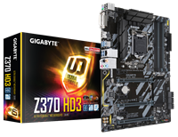Gigabyte Z370-HD3 ATX Motherboard for Intel LGA1151 CPUs