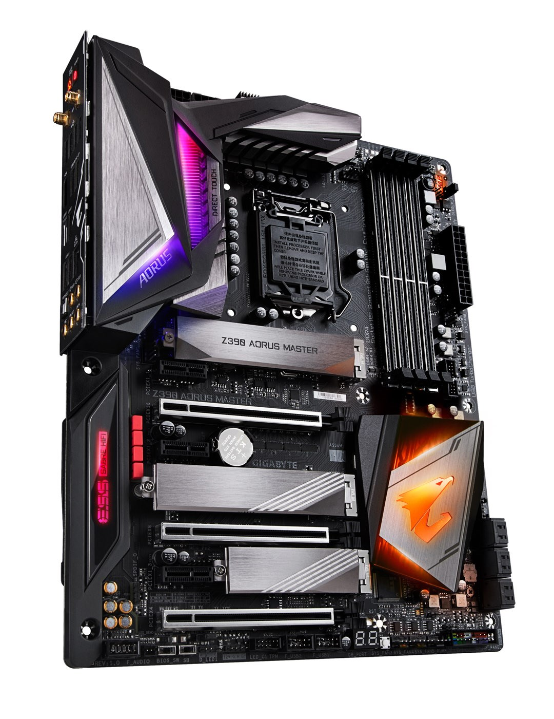 Gigabyte Z390 AORUS MASTER ATX Motherboard for Intel LGA1151 CPUs
