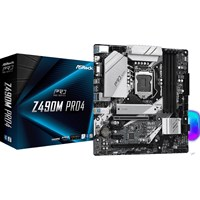 ASRock Z490M Pro4 mATX Motherboard for Intel LGA1200 CPUs