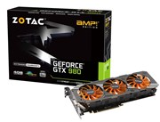 ZOTAC GeForce GTX 980 AMP! Edition (4GB) Graphics Card PCI-E (3 x DisplayPort) HDMI DVI (VGA Adaptor)