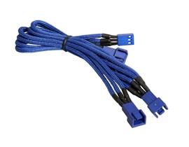 BitFenix Alchemy 3-Pin to 3x 3-Pin Adapter 60cm - sleeved blue/blue