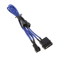 BitFenix Alchemy Molex to 3pin x3 Fan adaptor 12V 20cm - Blue