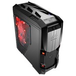 GT-S Black Full Tower Gaming Case 20cm LED Fan 2xUSB3 Side Window