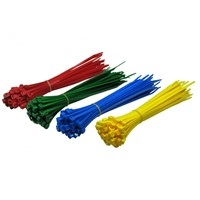 200mm x 4.8mm CABLE TIES RED BLUE GREEN YELLOW